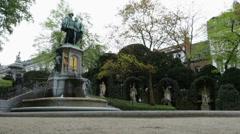 Square du Petit Sablon in Bruxelles Belgium - stock footage
