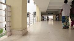 Interior shot of Hospital Stock Footage