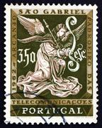 Postage stamp Portugal 1962 Archangel Gabriel, Messenger Stock Photos