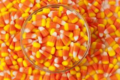 halloween striped candy corn - stock photo
