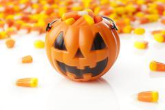 Halloween striped candy corn Stock Photos