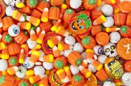 Stock Photo of spooky orange halloween candy