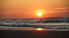 sunset at the beach norderney germany - stock footage
