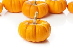 fresh orange organic pumpkin - stock photo