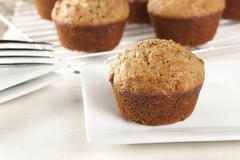 Fresh homemade bran muffins Stock Photos