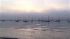 Narragansett bay fog from jamestown, ri Stock Footage