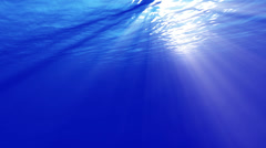 4K Underwater 40 seconds LM11 Loop Sunlight - stock footage