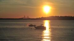 Narragansett bay sunrise time-lapse Stock Footage