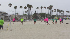 Beach Soccer Match Stock Footage