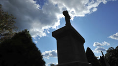Stock Video Footage of grave and clouds time-lapse with dolly move