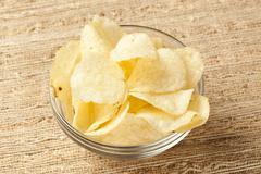 Crispy fresh potato chips Stock Photos