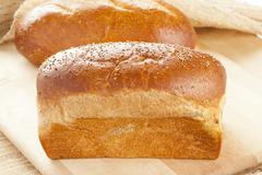 fresh organic whole wheat bread - stock photo