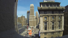 New York City Seventh Avenue high angle Stock Footage
