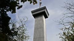Landgraf Turm - Landgraf tower in  Jena, Germany Stock Footage