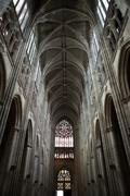 gothic cathedral of saint gatien in tours; loire valley; france - stock photo