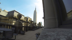 Empire State Building extra wide Stock Footage