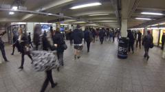 Subway Underground Walkway Times Square Stock Footage