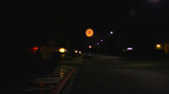 Blood-red moon at night Stock Footage