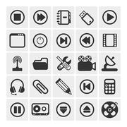 25 vector icons Stock Illustration
