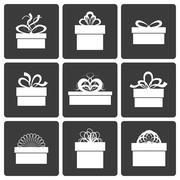 Vector gift box icons Stock Illustration