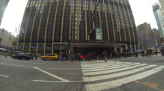 Penn Station Madison Square Garden street entrance - stock footage