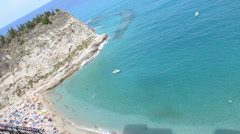 View of tropea (italy) Stock Footage