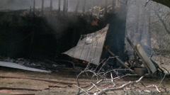 Fire Debris Smoldering Stock Footage