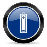 Stock Illustration of blue circle web button