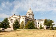 Stock Photo of Oklahoma State House and Capitol Building in Oklahoma City, OK.