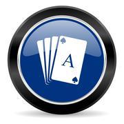 blue circle web button - stock illustration