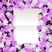 Message floral Stock Illustration
