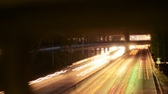 4K Motion Controlled Dolly Time Lapse of Freeway in Downtown LA -Tilt Down- Stock Footage