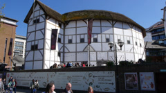 Shakespeare's Globe Theatre in London Stock Footage