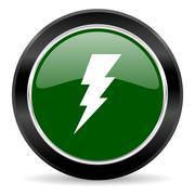 Green glossy web button Stock Illustration