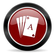 Red glossy web button Stock Illustration