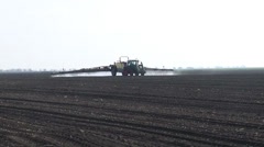 Stock Video Footage of Fertilization agriculture, fertilizer application by field
