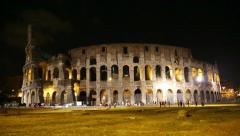 Colosseum, Rome, Italy Stock Footage