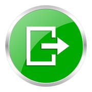 Green web gloosy button Stock Illustration