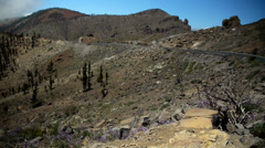 HD1080p50 Panoramic view of the Teide National Park Stock Footage