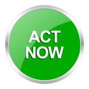 green web gloosy button - stock illustration