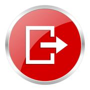 Red web button isolated Stock Illustration