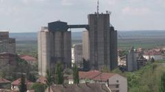 Concrete silos Stock Footage