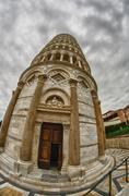 Kuuluisa arkkitehtuuri Miracle aukiolla Pisa Kuvituskuvat