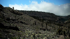 HD720p50 Panoramic view of the Teide National Park Stock Footage