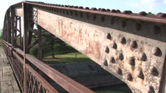 Old rusty bridge - stock footage