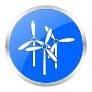 blue web icon isolated - stock illustration