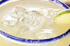 fresh homemade margarita with lime - stock photo