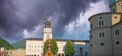 Storm approaching Salzburg, Austria Stock Photos