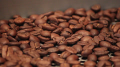 java, closeup of lightly roasted coffee beans in cooling spin - stock footage