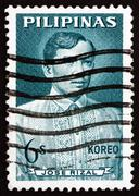 Stock Photo of Postage stamp Philippines 1964 Jose Rizal, National Hero
